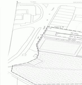 Plano: Finca municipal modificada por el estudio